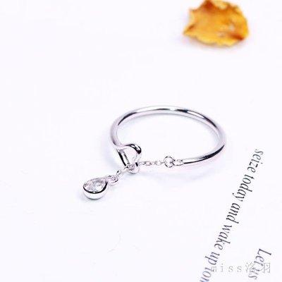 通體925銀戒指可愛秀氣愛心水滴流蘇開口戒指環戒子女禮物J066 js5090