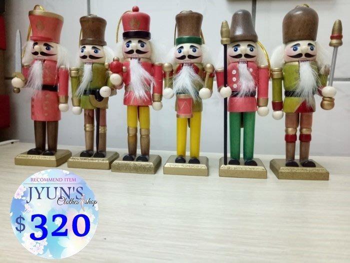 擺件 胡桃夾子胡桃鉗木偶人士兵國王傳統工藝居家擺飾品玩具創意禮物生日許願The Nutracker 現貨JYUN'S
