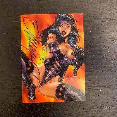 Double Impact 1996 High Impact comics Ricky Carralero 親筆簽名 卡片 #A1