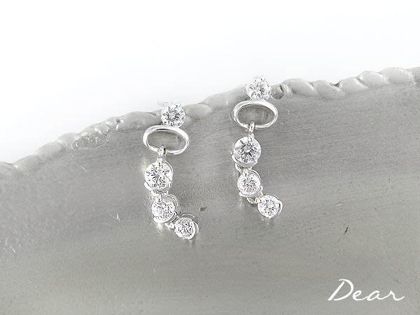 ◎【 Dear Jewelry 】◎ 正妹 辣妹 帥哥人人都適合-普普風K金耳環(垂墬)---免運