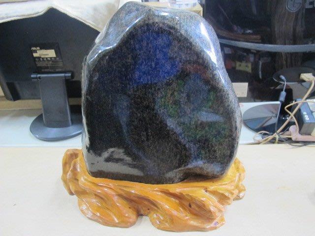 二手舖 NO.3624 天然玉石 竹葉石 陽起石 珍藏擺飾 能量原礦石