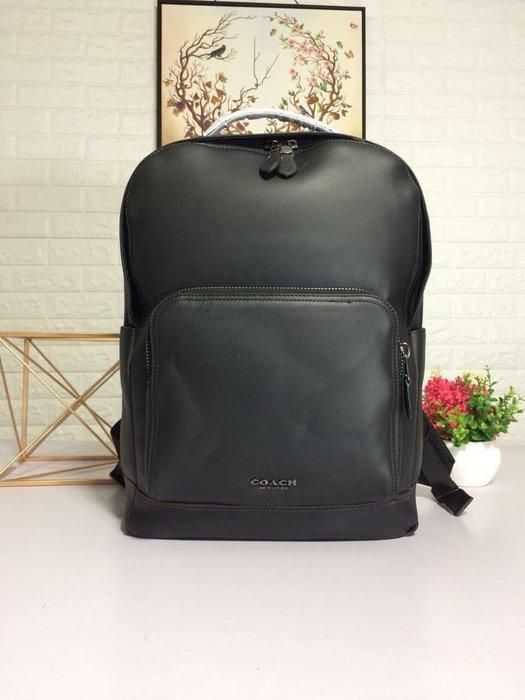 風格 COACH 全新正品 37599 新款全皮雙拉鏈大容量後背包 雙肩背包  全場特價 附購買證明