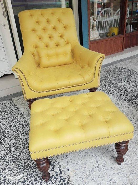 新古典主人椅 巴洛克房間椅 休閒椅 主人椅 小沙發 民宿 店面