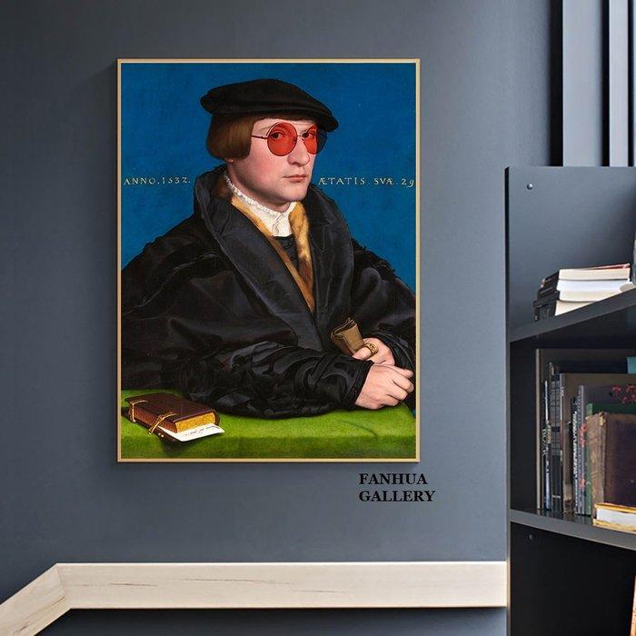 C - R - A - Z - Y - T - O - W - N 原創設計歐美式人物惡搞藝術畫客餐廳裝飾畫小眾藝術掛畫文藝復興時期創意版畫商業空間民宿房間掛畫