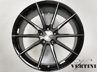 動力特區 VERTINI 19吋旋壓製程鋁圈 銀底車面 黑底車面  5孔114.3編號RFS1.1