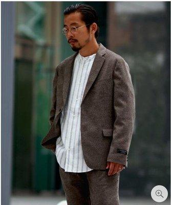 【傑森精品】日本潮牌 JOURNAL STANDARD 粗花呢材質 合身 短款 西裝外套