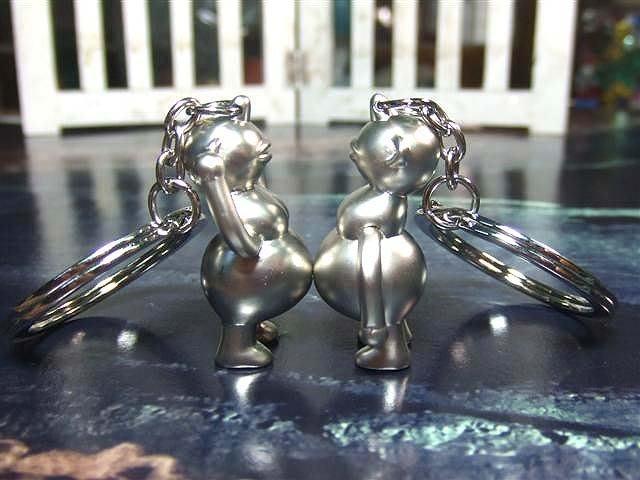 ☆創意小物店☆情侶鑰匙扣(外星人) 鑰匙圈/創意可愛金屬鑰匙圈 時尚造型個性飾品