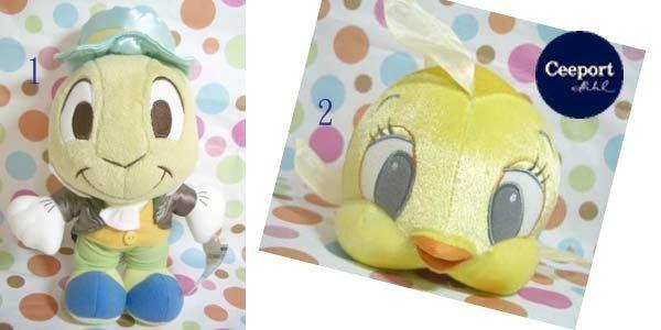 一番街*日本帶回*木偶奇遇記中之小金魚&蚱蜢,蟋蟀娃娃~單件價~生日禮物首選!