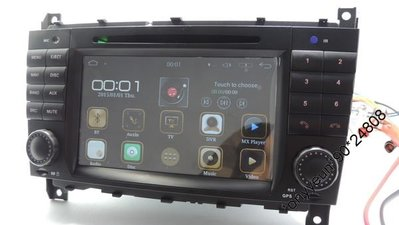 """YOKOTRON"" 7  TFT Android CAR DVD  FOR BENZ C-W203 CLK W209 (2006-2011)支援軑控GPS"