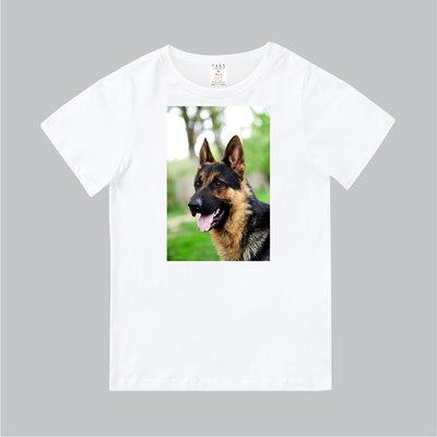 T365 MIT 親子 童裝 T恤 T-shirt 短T 狗 DOG 狼犬 德國狼犬 German Wolfhound