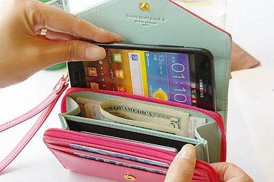 BO雜貨【SV2804】韓國皇冠多功能手機包 卡包 零錢包 錢包 卡夾 中夾 長夾 皮夾