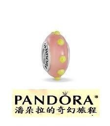 潘朵拉絕版品{{潘朵拉的奇幻旅程}} Seeing Spots Pink/Yellow 粉紅風火輪790625