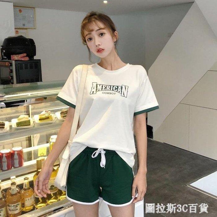 白色短袖t恤女裝2018新款潮夏裝學生寬鬆韓版ulzzang百搭體恤上衣