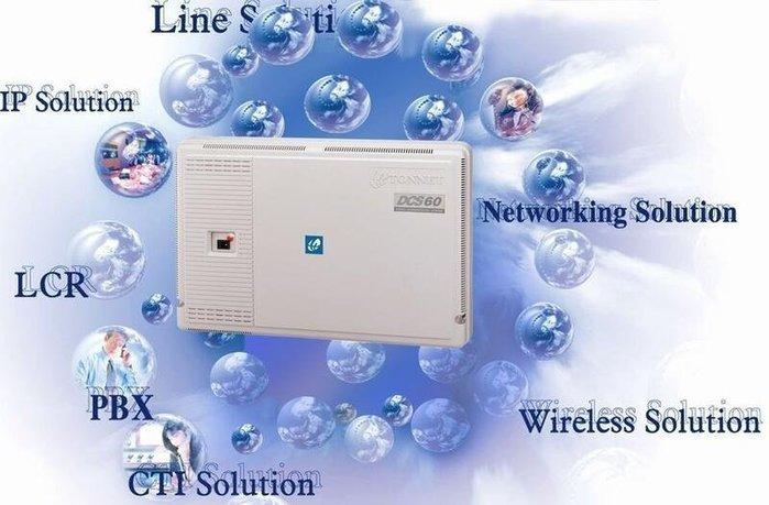 數位通訊~TONNET 通航 DCS-60 ( 424 ) + TD-8315D  23 台 電話總機 + 停電電池