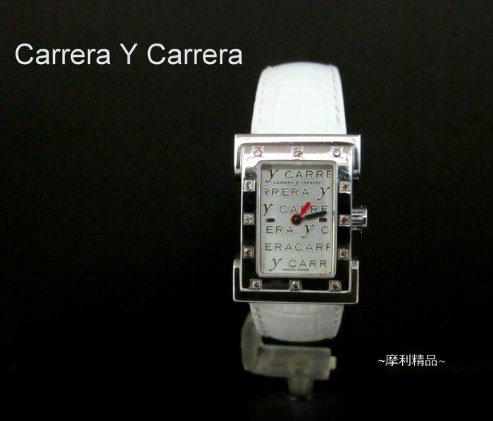 【摩利精品】Carrera Y Carrera  方型鑽錶 *內行都知道* 低價特賣