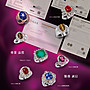 GRS天然哥倫比亞極微油祖母綠7.75克拉天然鑽石2克拉鉑金鑽戒PT900~綠帶藍色~附GRS日本中央寶石鑑定Insignificant