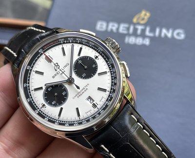~路米名品~ Breitling 百年靈 PREMIER 42mm 熊貓 面盤 計時 透背 B01 天文台 自製機芯