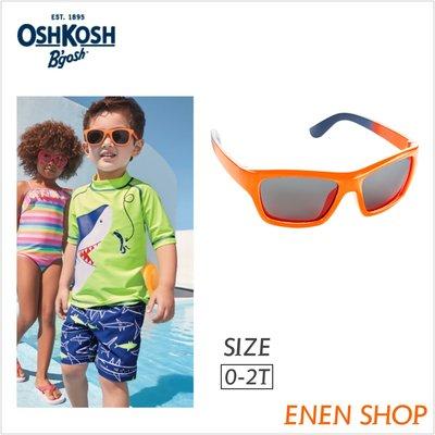 『Enen Shop』@OshKosh Bgosh 亮橘色運動款太陽眼鏡/墨鏡 #15415|0-24M