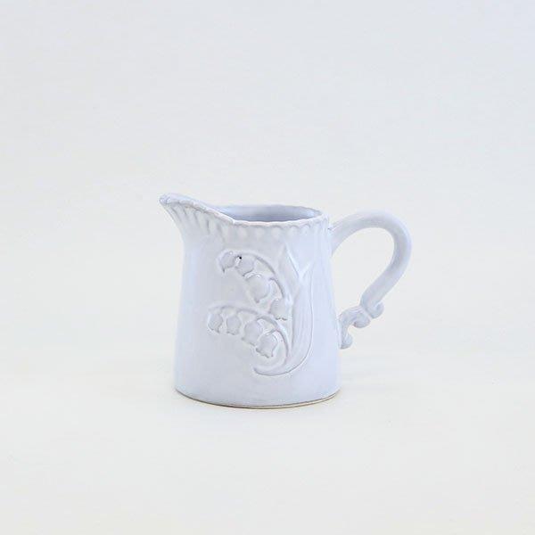 《齊洛瓦鄉村風雜貨》日本zakka雜貨 日本新款鈴蘭系列奶罐 咖啡用具 奶罐 奶盅 奶杯 奶精瓶 攪拌匙池收納