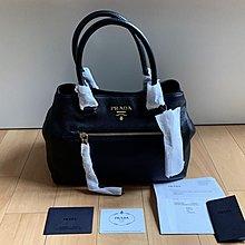 全新 未用過 Prada 黑色 皮手袋 側孭 手提 肩袋 100% New 連單 保用卡 塵袋