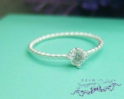 *。漾漾小舖*。10號甜美細緻麻花款單一美鑽戒指.925純銀【G150】☆防過敏.可超商取貨付款