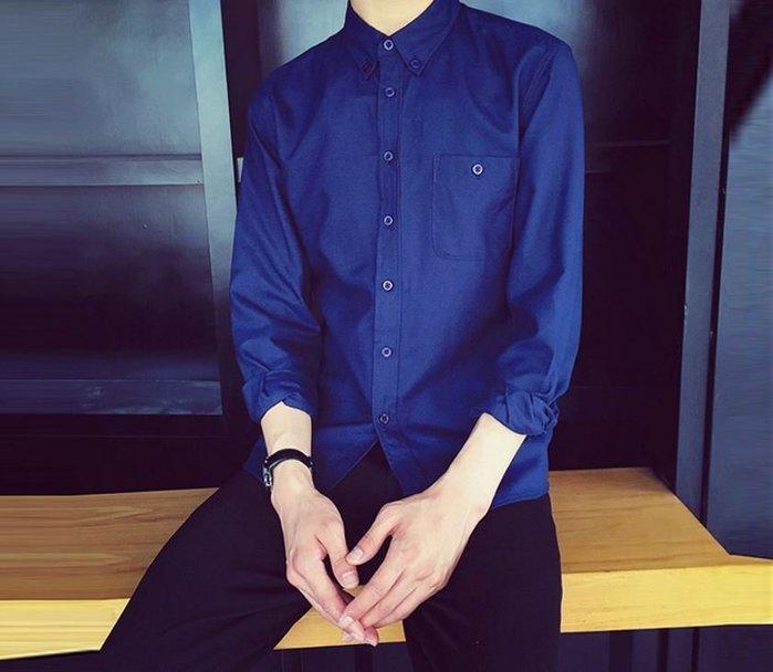 【NoComment】歐美 質感簡約 牛津紡素面長袖襯衫 八色  ZARA UNIQLO