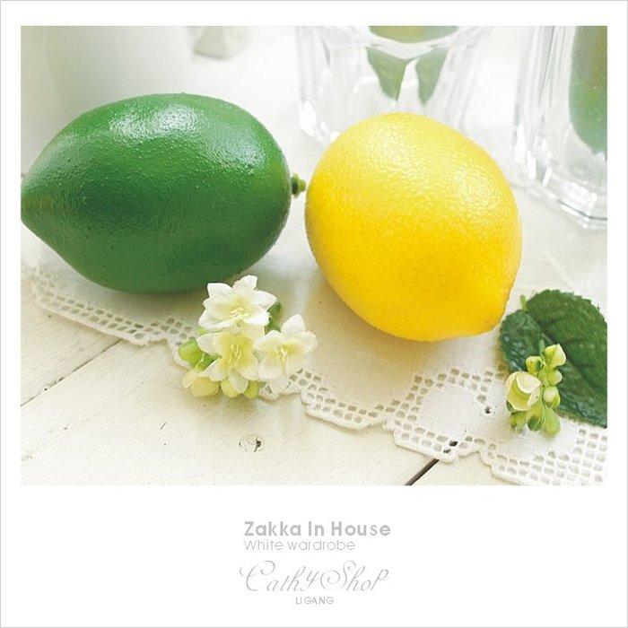 │Cathy ZAKKA│鄉村雜貨、自然森林系田園食物模型人造蔬果水果高仿真手感檸檬、萊姆、黃金檸檬、香水檸檬-多色可選