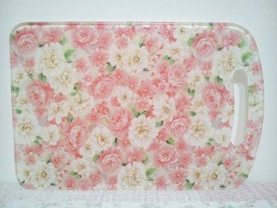 ~愛戀玫瑰園~繽紛淡粉玫瑰金蔥壓克力抗菌砧板-限量款   (無毒害不發霉) 新品到……