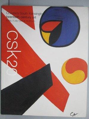 【書寶二手書T3/收藏_PME】Christie's_Twentieth Century Art_1998/7/3