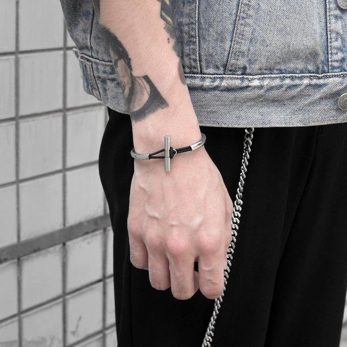 美國東村【Recovery 】彈性10釦鋼手環 (銀)