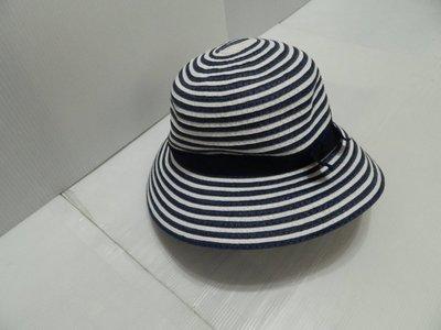 【 全新品 】雅芳優雅恆白藍紋圓帽~
