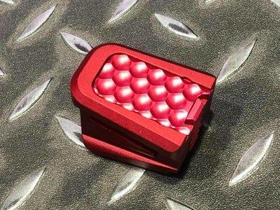【 AKA】5KU MARUI KJ WE GLOCK 用 IPSC ZEV 鋁合金彈匣底板 紅色 GB-445-R
