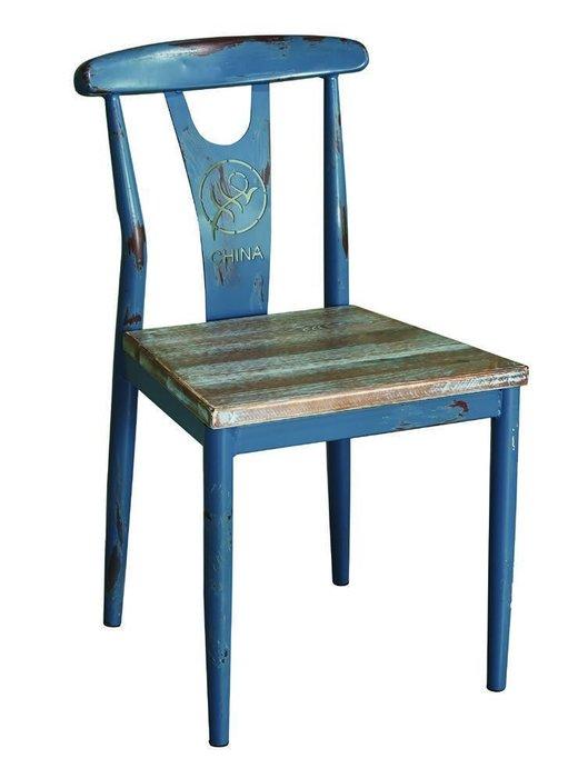 【DH】商品編號N487-15商品名稱索爾仿舊餐椅(圖一)純手工舊化處理.工業風時尚.新品特價