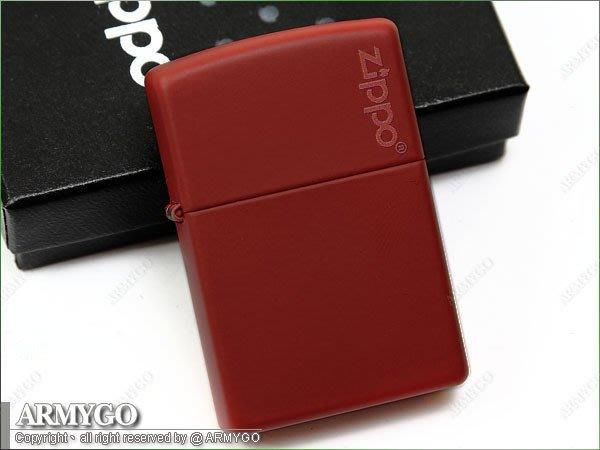 【ARMYGO】ZIPPO原廠打火機-紅色拷漆 No.233ZL