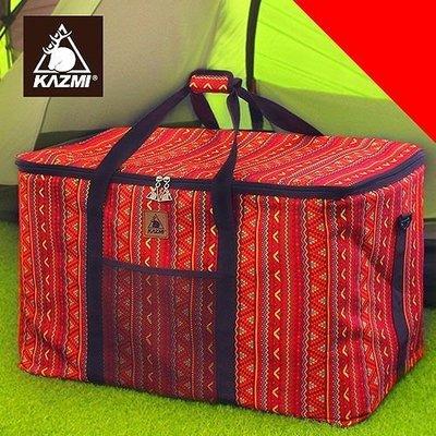 丹大戶外【KAZMI】經典民族風裝備收納袋(120l) 紅 保護袋/提袋/防塵袋K5T3B001