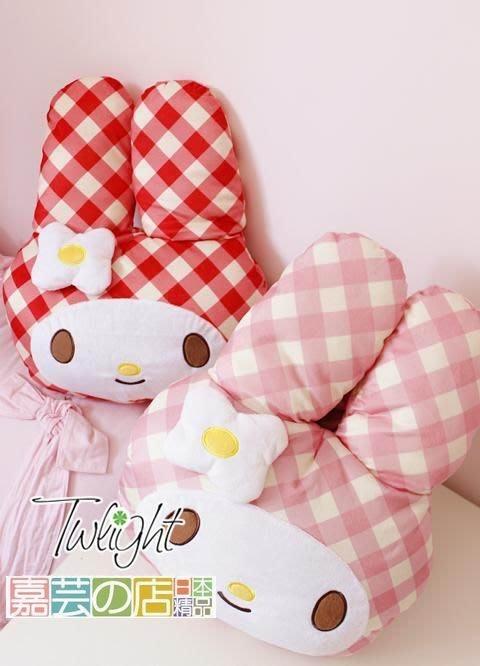 嘉芸的店 my melody日本帶回美樂蒂造型空調毯 抱枕內置小毯子 日本毛毯 小抱枕95*155CM