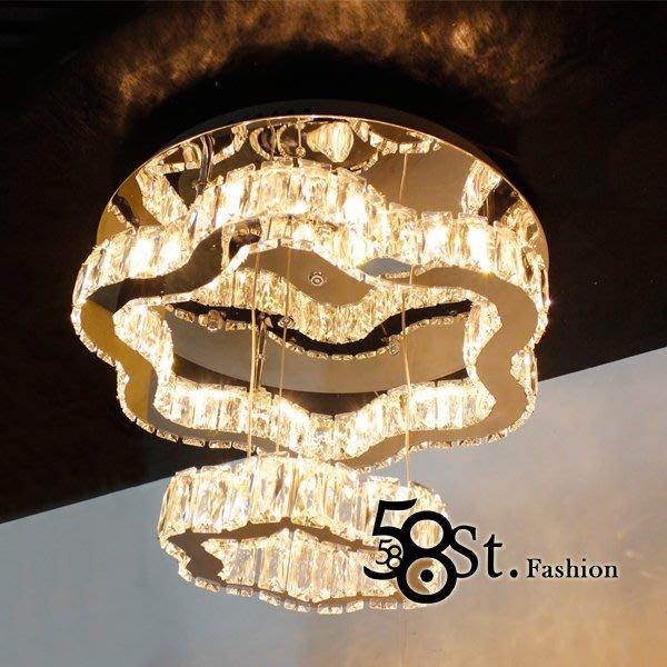 【58街】LED燈飾_可切換白、暖白、黃光色「2層、3層 晶鑽吸頂燈 」復刻版。GZ-201