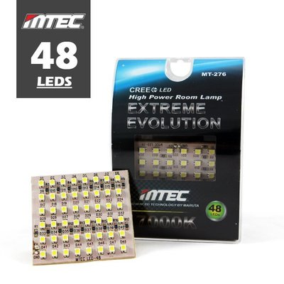 【48晶LEDS】日本MTEC T10.T15.雙尖頭Festoon LED 極亮白光 室內燈/車門照地燈 MT-276