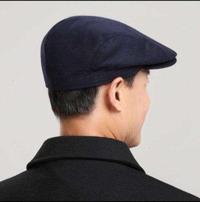 NYCT 韓國連線熱賣限定原創 高品質訂製 歐美百搭時尚必備款鴨舌帽子男春季薄款前進帽男貝雷帽羊毛呢休閒保暖老頭