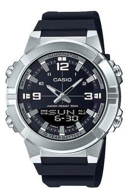 【萬錶行】CASIO 時尚雙顯 10 年電池  AMW-870-1A