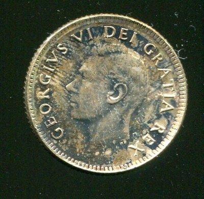 CANADA 加拿大銀幣,10-CENT 17mm,K43,1949,品相精鑄 PRF