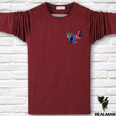 Realman男裝店 ~ 男士長袖T恤上衣 加肥加大碼棉圓領中年寬鬆男裝打底衫  ~t恤短袖長袖襯衫馬甲外套上衣polo