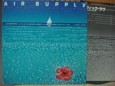 [阿慜歌的音樂小舖]二手LP{Air Supply}---Teach Me To Run///**近如新**稀有片**