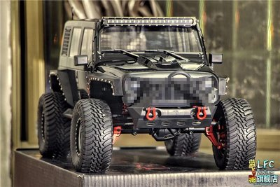 新風小鋪-新款Traction Hobby Founder II門橋版KM4仿真攀爬車1:8遙控模型