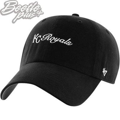 BEETLE 47 BRAND 老帽 堪薩斯市 皇家 KANSAS CITY ROYALS 黑白 文字 DAD HAT