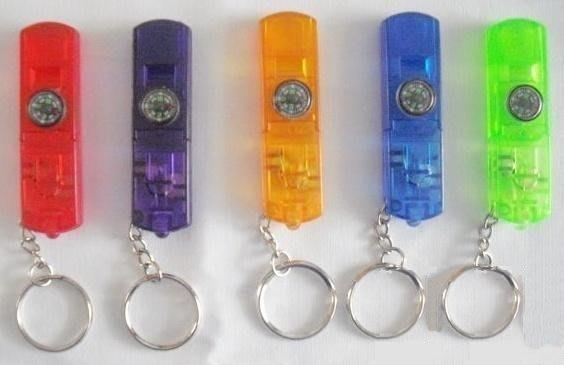 5# 購物滿5種以上 1元優惠加購贈品標,限購1個 不重覆贈送,4合1口哨 指南針 LED手電筒 鑰匙圈;求生哨子