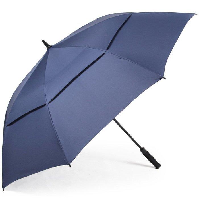 【潮客良品】~超大號男士商務長柄傘 雙層抗風戶外 高爾夫雨傘 迎賓傘 晴雨傘cklp41591