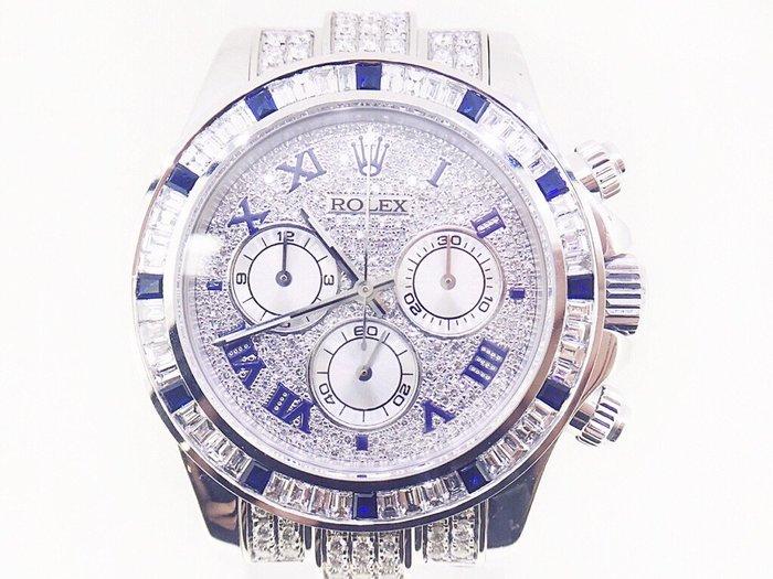 (賀成交)勞力士 DAYTONA 迪通拿 116519 計時碼錶 精鑲滿天星鑽面 精鑲鑽框 自動腕錶