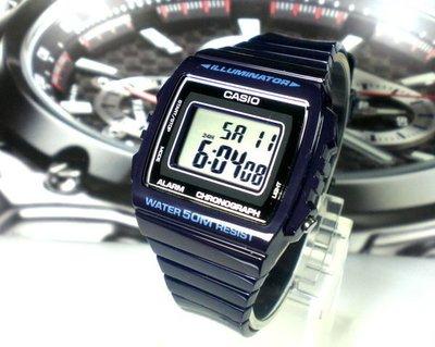 經緯度鐘錶 CASIO手錶 大型字體 亮皮表帶  酷似G-SHOCK  公司貨 型男女必備【↘550】W-215H-2A