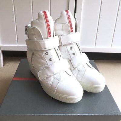國際精品PRADA Leather Casual Flats & Oxfords for Women 高筒休閒鞋